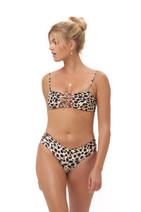Storm Swimwear - Corfu - Bandeu Bikini Top in Cheetah Print