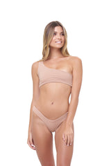 Storm Swimwear - Cinque Terre - One shoulder bikini top in Storm Le Nuage Sable