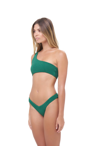 Storm Swimwear - Cinque Terre - One shoulder bikini top in Storm Le Nuage Vert