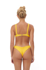 Storm Swimwear - Aruba - Centre Back Ruche Bikini Bottom in Citrus