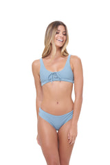 Storm Swimwear - Corsica - Lace Up bikini top in Dusk Blue