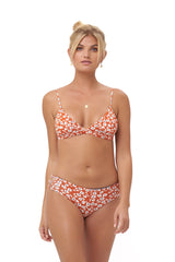 Storm Swimwear - Play De Amor brief - Bikini Bottom in Vintage Flower Red