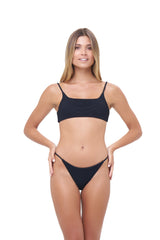 Storm Swimwear - Montauk - Scoop bikini Top in Storm Le Nuage Noir