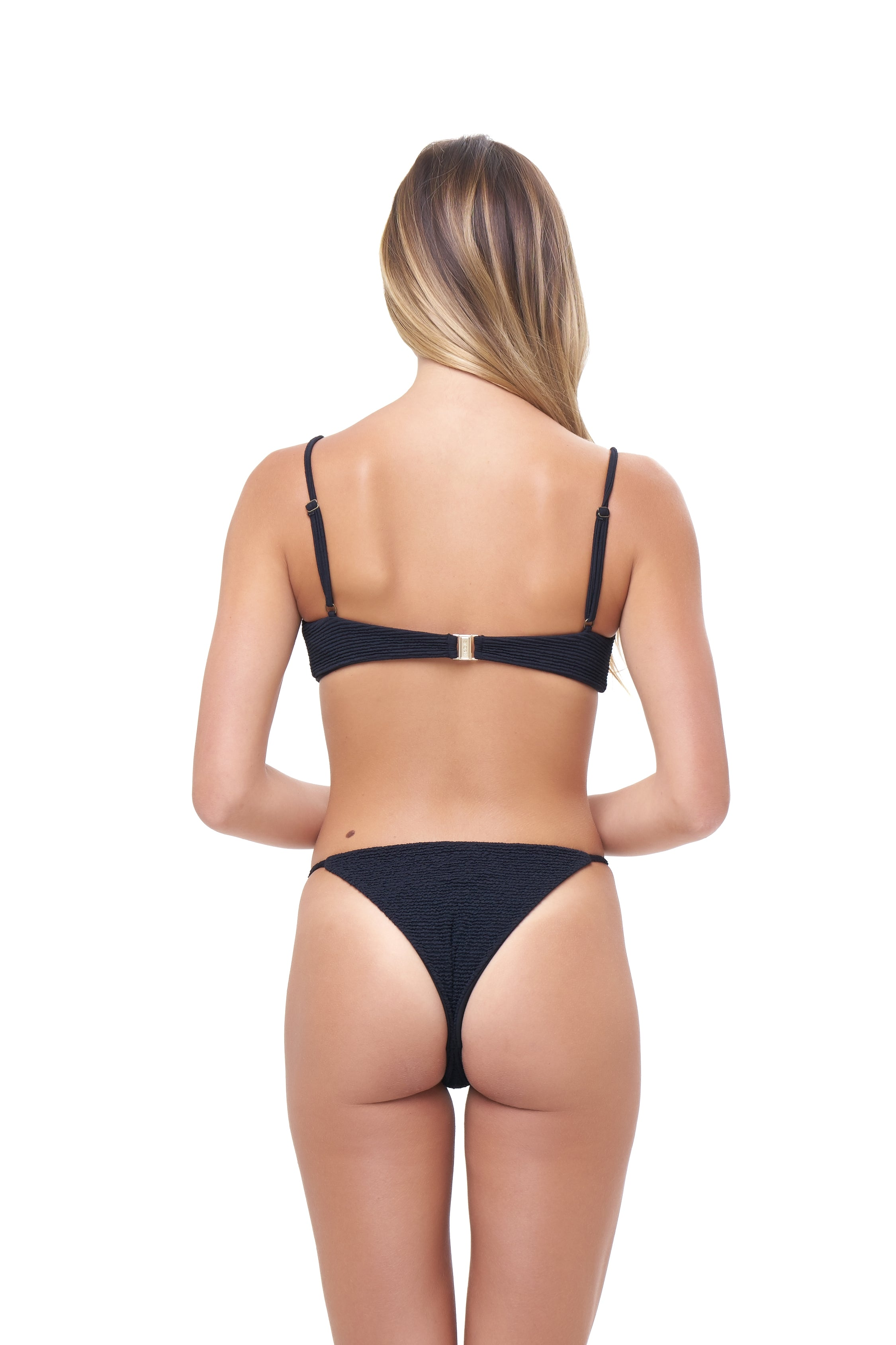Storm Swimwear - Capri - Tube Single Side Strap Bikini Bottom in Storm Le Nuage Noir