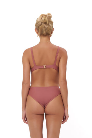 Storm Swimwear - Playa Del Amor brief - Bikini Bottom in Canyon Rose