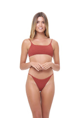 Storm Swimwear - Capri - Tube Single Side Strap Bikini Bottom in Storm Le Nuage Rouille
