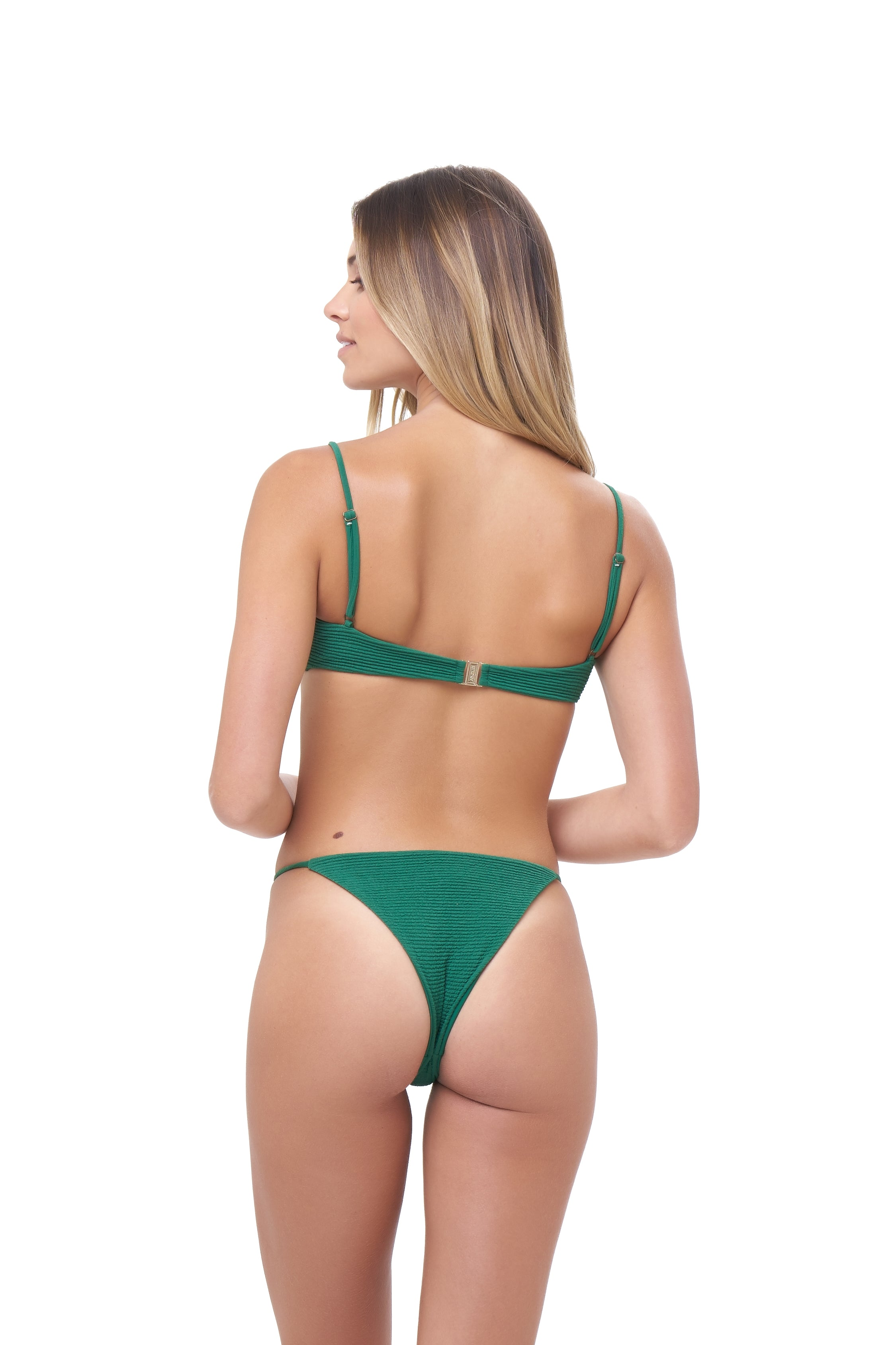 Storm Swimwear - Capri - Tube Single Side Strap Bikini Bottom in Storm Le Nuage Vert