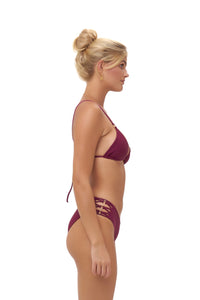 Storm Swimwear - Playa Del Amor brief - Bikini Bottom in Wine