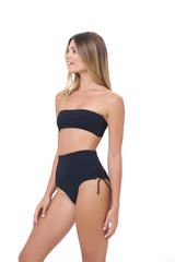 Storm Swimwear - Corsica - High Waist Lace Up Brief in Storm Le Nuage Noir