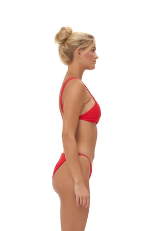 Storm Swimwear - Cap Ferrat - Bikini Bottom in Scarlet