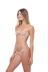 Storm Swimwear - Amalfi - Bandeu centre ruched bikini top in Storm Le Nuage Sable