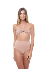 Storm Swimwear - Cannes - High Waist Bikini Bottom in Storm Le Nuage Sable