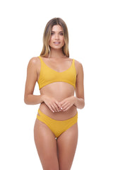 Storm Swimwear - Cottesloe - Split Brief in Mustard