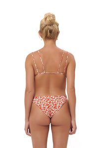 Storm Swimwear - Cap Ferrat - Bikini Bottom in Vintage Flower Red Print
