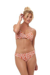 Storm Swimwear - Stromboli - Bikini Top in Vintage Flower Red Print