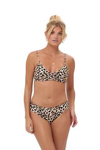Storm Swimwear - Stromboli - Bikini Top in Cheetah Print