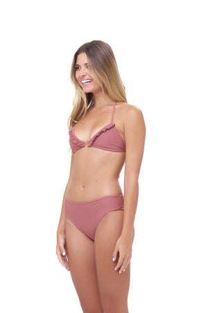 Storm Swimwear - Lagos - More Coverage Brief in Canyon Rose