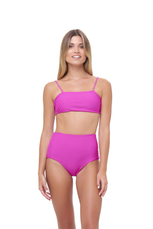 Storm Swimwear - Cannes - High Waist Bikini Bottom in Fuchsia