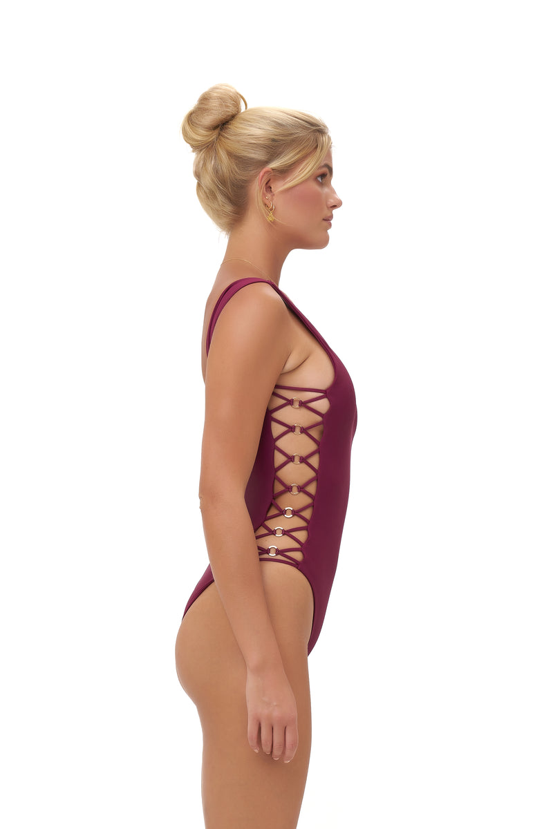 Storm Swimwear - Playa Del Amor - One Piece Swimsuit in Wine