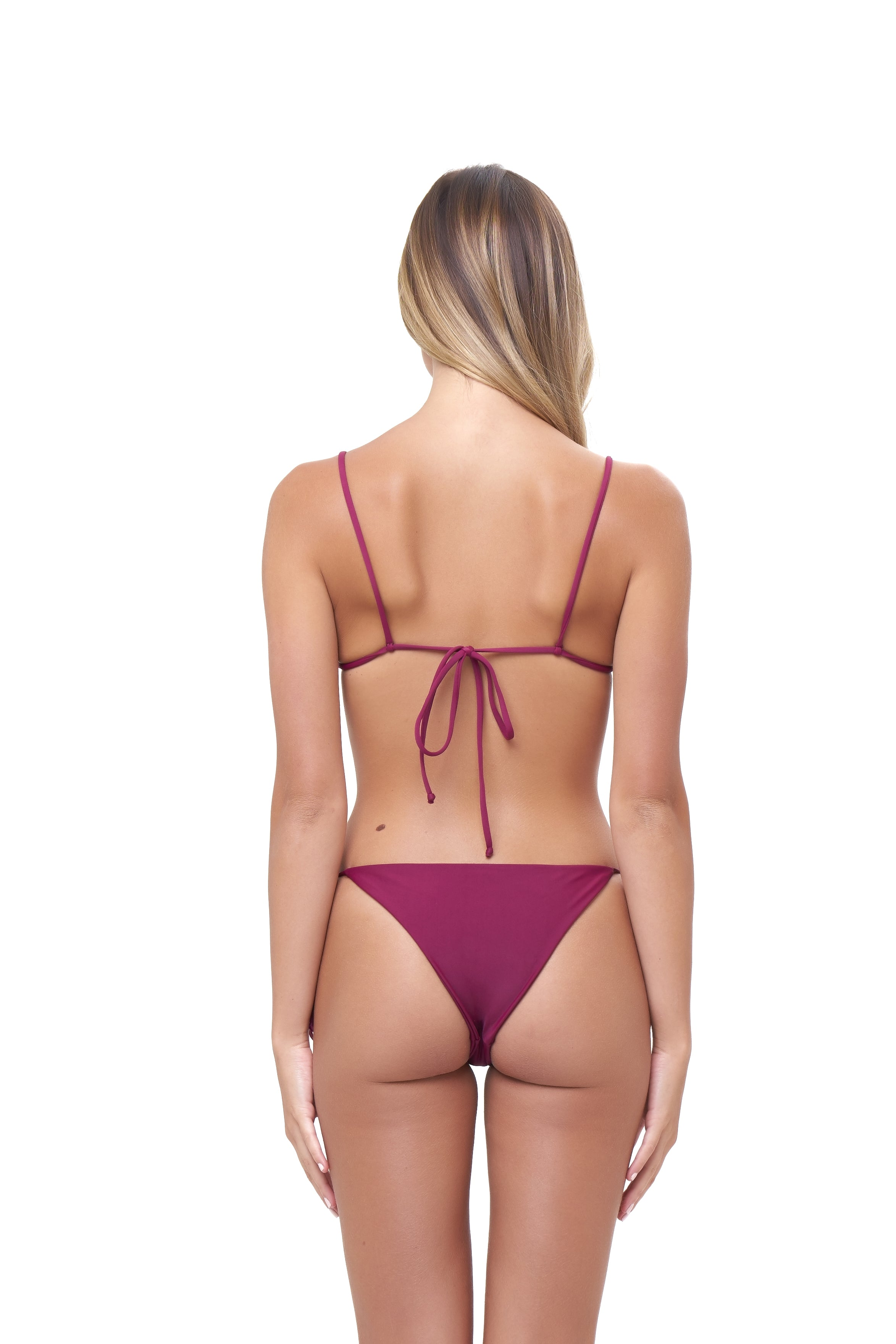 Storm Swimwear - Formentera - Tie Side Bikini Bottom in Wine
