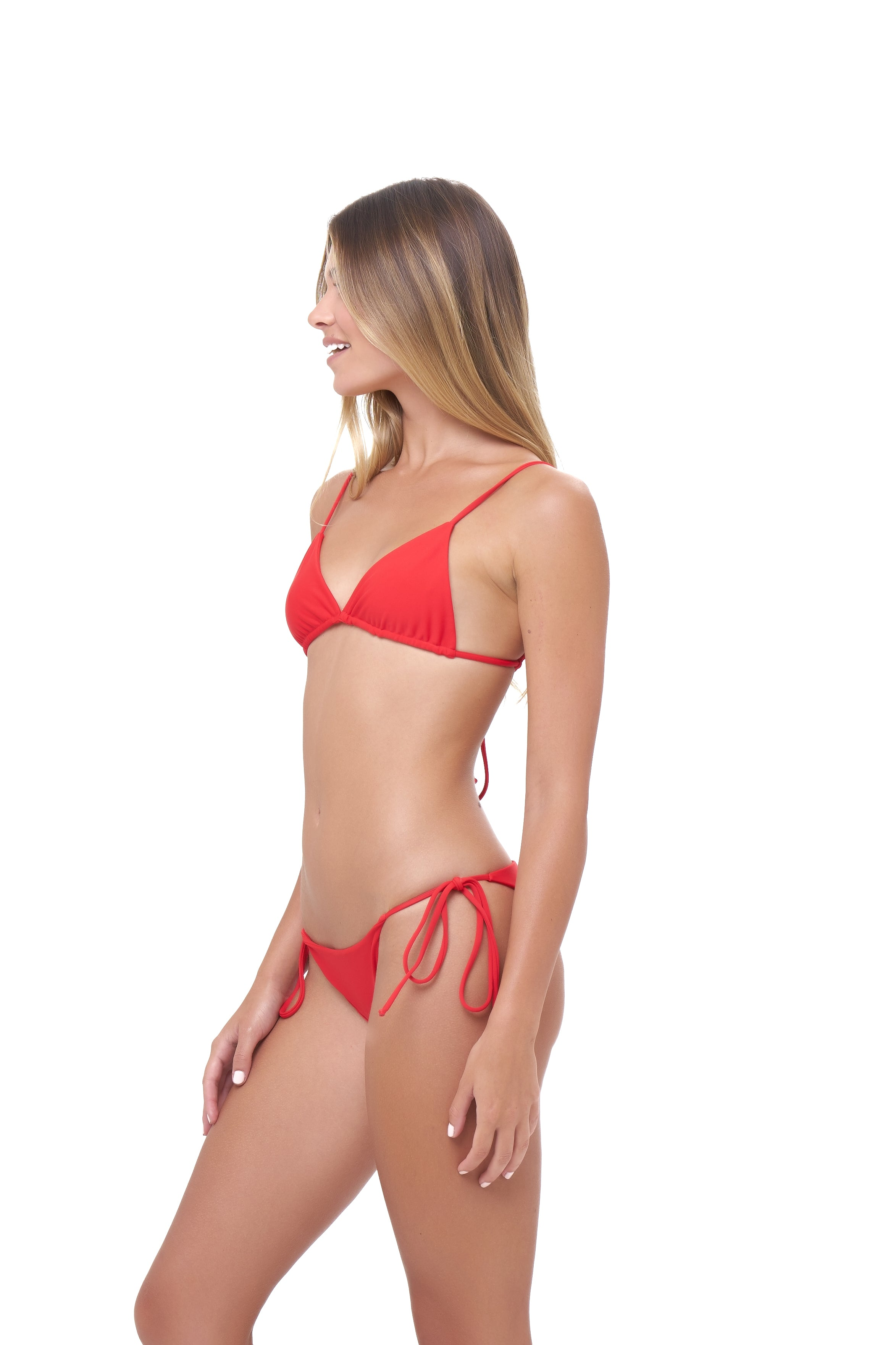 Storm Swimwear - Formentera - Tie Side Bikini Bottom in Scarlet