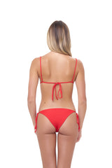 Storm Swimwear - Formentera - Tie Back Triangle Bikini Top in Scarlet