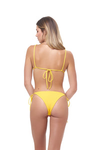 Storm Swimwear - Formentera - Tie Back Triangle Bikini Top in Citrus