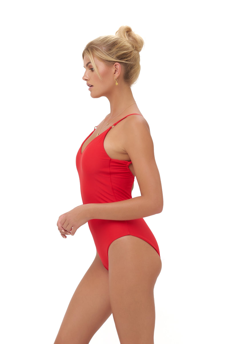 Storm Swimwear - Portofino - One Piece Swimsuit in Scarlet