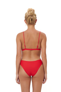Storm Swimwear - Playa Del Amor brief - Bikini Bottom in Scarlet