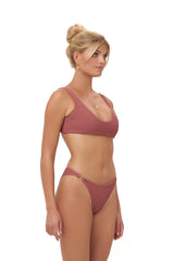 Storm Swimwear - Algarve - Supportive boob with elastic shirring Top in Canyon Rose