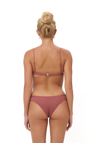 Storm Swimwear - Algarve - Brief with elastic shirring in Canyon Rose