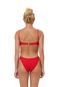 Storm Swimwear - Lanzarote - bikini Bottom in Elastic Shirring in Scarlet