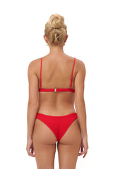 Storm Swimwear - Antigua - Triangle Elastic Shirring Bikini Top with padding in Scarlet
