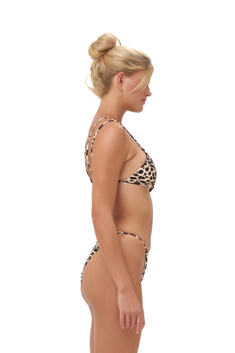 Storm Swimwear - Cap Ferrat - Bikini Bottom in Cheetah Print