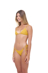 Storm Swimwear - Formentera - Tie Back Triangle Bikini Top in Mustard
