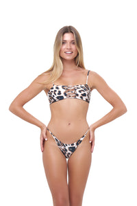 Storm Swimwear - Cap Ferrat - Bikini Bottom in Leopard Print