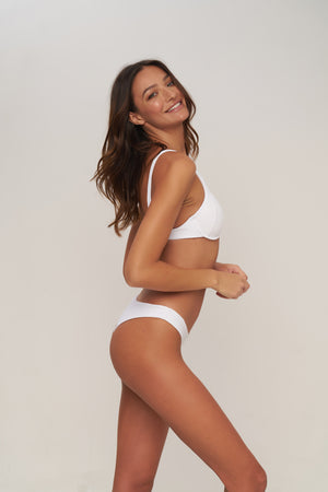 Storm Swimwear - St Barts - Bottom in Milk white rib