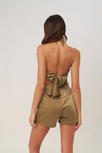 La Confection - Nicky - Crop Top in Olive