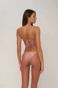 Storm Swimwear - Formentera - Tie Side Bikini Bottom in Cinnamon Shimmer