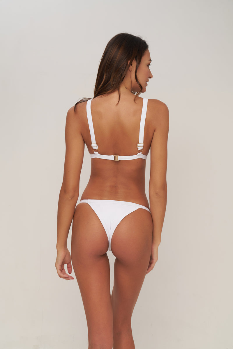 Storm Swimwear - San Sebastian - Bikini Top In Milk white rib