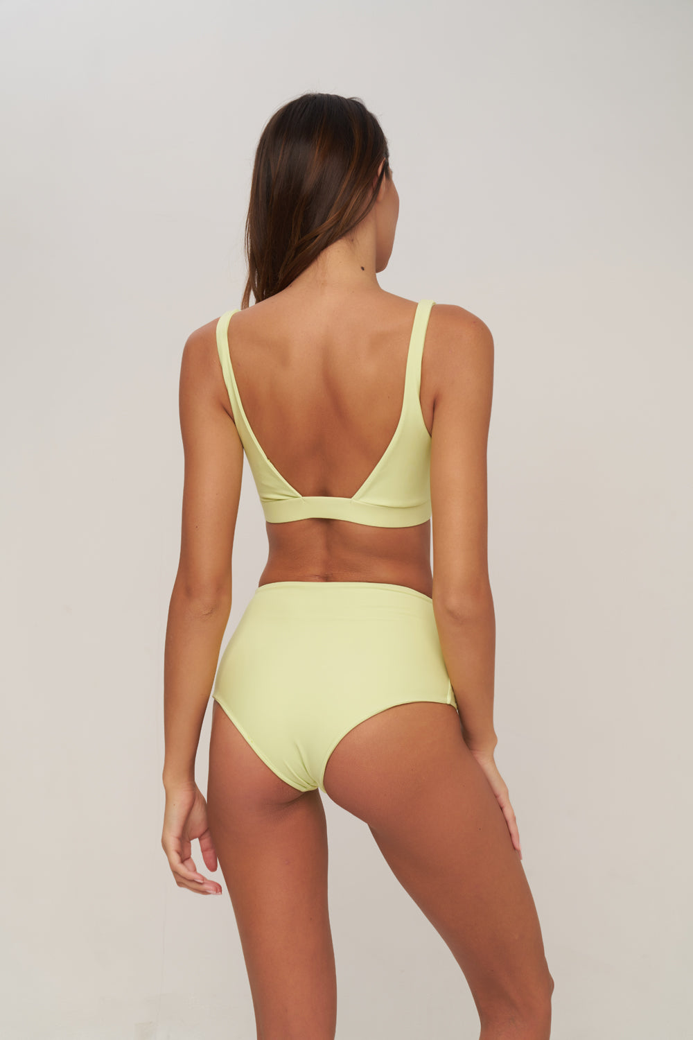 Storm Swimwear - Cannes - High Waist Bikini Bottom in Melon