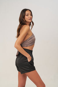 La Confection - Nicky - Crop Top in Chestnut