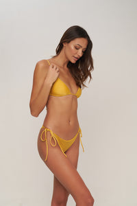 Storm Swimwear - Formentera - Tie Side Bikini Bottom in Mango Shimmer