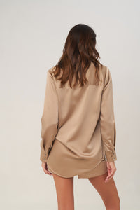 La Confection - The Cruise - Long Sleeve Button Up Shirt in Gold