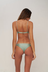 Storm Swimwear - The Want - Bikini Bottom in Sage Shimmer