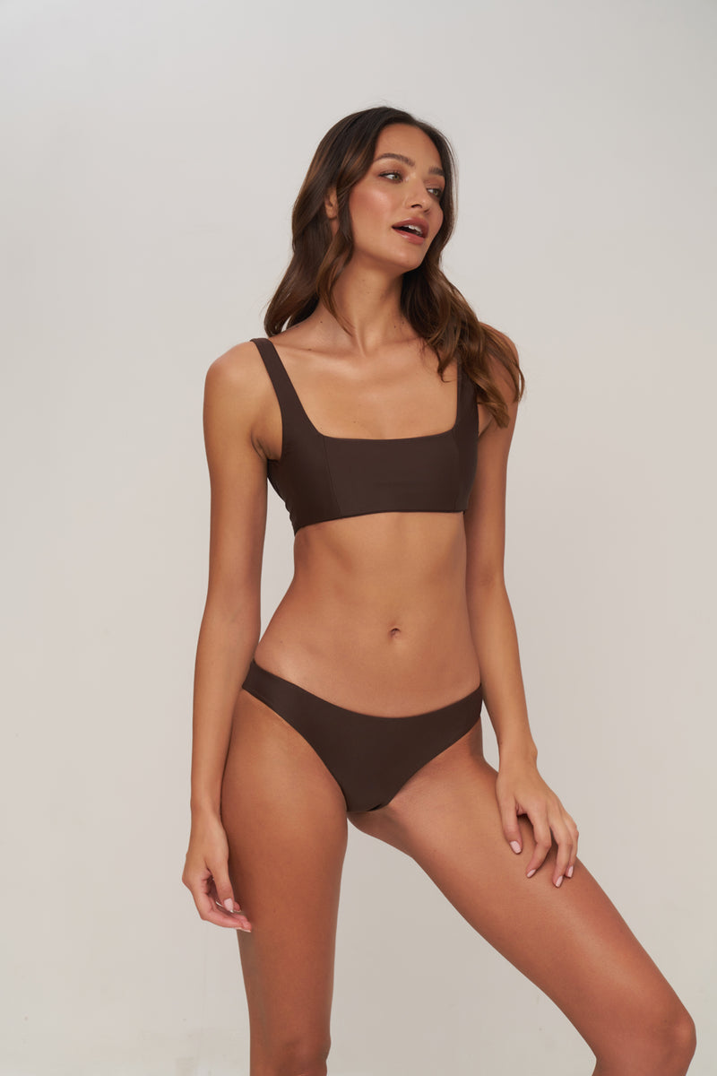 Storm Swimwear - St Barts - Bottom in Chocolate