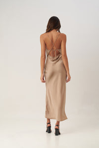 La Confection - Moss is Boss - Long Dress in Gold