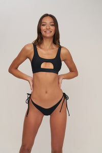 Storm Swimwear - Seychelles - Bikini Top in Night Black Rib