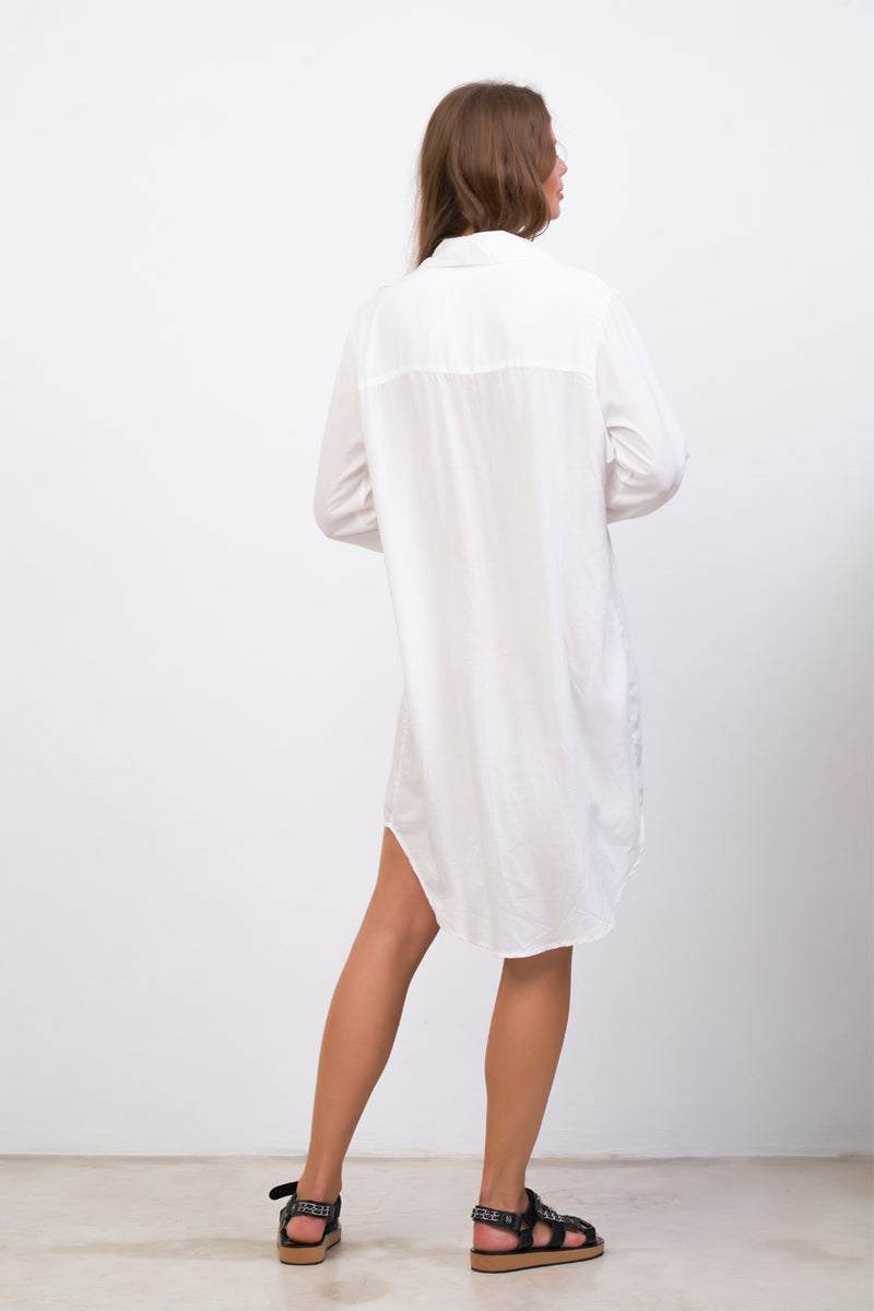La Confection - Twiggy - Shirt Dress in White