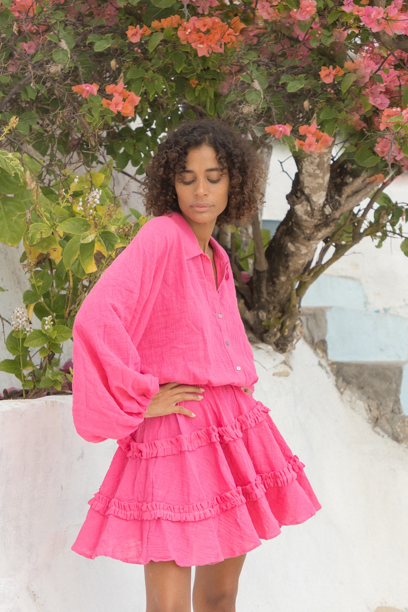 La Confection - Willow - Long Sleeve in Peony Pink